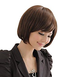 Lady Short Straight Side Bang Wigs 3 Colors Available