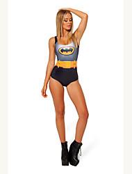 Mujeres Yongi Superman Imprimir Chaleco Tradición Bikini
