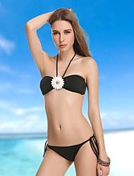 Mujeres VBM Fashion Diamond Crystal Bandeau Bikini Swimwear Natación Trajes de Biquini