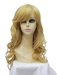 Capless Long  Blonde Mixed Color Wavy Synthetic Hair Wig