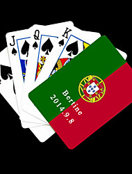 Drapeau cadeau personnalisé du Portugal Football Style Playing Card