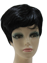 Capless Synthetic Black Short Straight Synthetic Hair Wig For Lixiaolong Wig