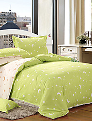 Mankedun Bella Luna E Stella modello Green Cotton 4 PCS Set Bedding