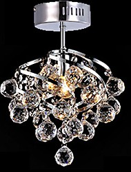 5 Contemporain / Traditionnel/Classique / Rustique Cristal / LED / Ampoule incluse Chromé Cristal Lustre / Lampe suspendue