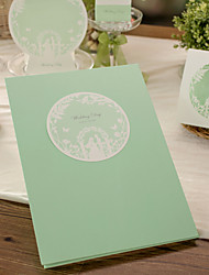 Chic Green Guest Book (5 Pages) Sign In Book