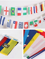 32PCS 8# Brazil World Cup National String Flags 32 Nations Flag Series Home&Bar Decoration(21x14cm,Length=9M)