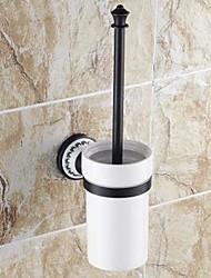 óleo estilo tradicional esfregou montar acabamento de bronze material de bronze parede titular escova de vaso sanitário