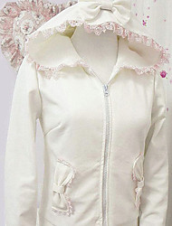 Naïve Girl Pure White Cotton Sweet Lolita Hoodie