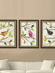 Животные Холст в раме / Набор в раме Wall Art,ПВХ Золотой Без коврика с рамкой Wall Art