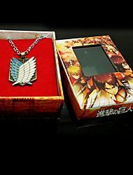 Schmuck Inspiriert von Attack on Titan Eren Jager Anime Cosplay Accessoires Halsketten Gold Legierung Mann