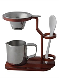 Stylish Aluminum Tea-making Stand w/ Stainless Steel Tea Strainers - Red Copper