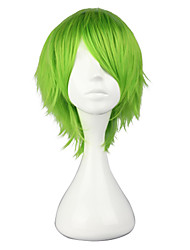 Harajuku Style Cosplay Synthetic Wig Bleach Mashiro Kuna Straight Short Side Bang Wig(Green)