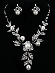 Women's Silver Jewelry Set Cubic Zirconia