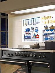 doudouwo ® moda da cozinha feliz anti-petróleo adesivos de parede