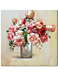 Hand Painted Oil Painting Still Life Peony Painting  with Stretched Frame