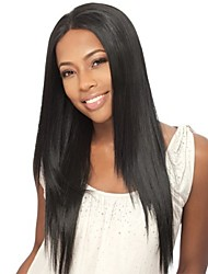 "18"" 100% Human Hair Natural Straight Brazilian Lace Front Wigs"