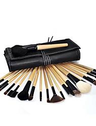24X professionellen Make-up Kosmetik Pinsel Set Kit Tool + Roll Up-Kasten