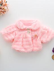 Girl's Jacket & Coat,Cotton / Polyester Winter Pink / Beige