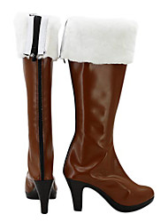 League of Legends Miss Fortune Brown PU Leather Cosplay Boots