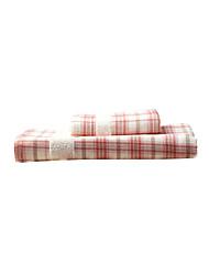 Juego de toallas de tela escocesa dobby 2 paquete de algodón, baño de toalla de mano 1pc towel/1pc