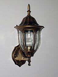 Light Outdoor mur, une lumière, verre aluminium peinture traditionnelle