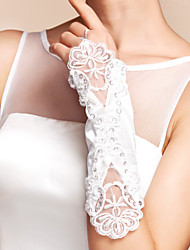 Elbow Length Fingerless Glove Satin Party/ Evening Gloves