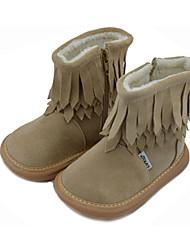 Chaussures bébé - Kaki - Habillé / Soirée & Evénement - Cuir - Bottes
