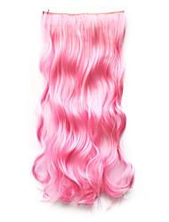 High Temperature Resistance 20 Inch Long Curly 5 Clip Hairpiece Extension 9 Colors Available