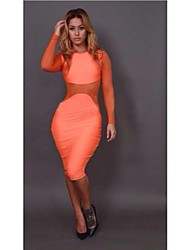 Venda quente Moda feminina Slim Fit Sexy Nightclub Vestido Bandage
