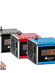 "HI-RIZ SD-502 Portable Mini 1.0 ""LCD Speaker avec / MP3 / Radio FM - (bleu / rouge + noir)"