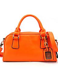 GMM une épaule de couleur de sucrerie Boston Bag Portable (Orange)