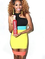 Women's Trendy Neon Colors Stitched Celebrity Inspired Mini Dress