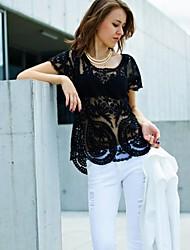 Women's  Pierced Crochet Blouse