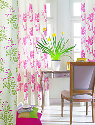 (Two Panels) Classic Fresh French Countryside Sunflowers Floral All-over Energy Saving Curtain