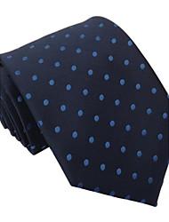 Dos homens azuis marinhos clássico Itália Estilo Moda Real Blue Dot Negócios Lazer tecida gravata