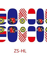 2014 F IFA World Cup Nail Art Stickers Decoration With Holland Flag 3D