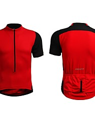 Jaggad Summer Unisex Black Red Polyester Spandex Rear Pocket Cycling Jersey