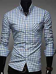 Men's Classic Color Plaids Causal Shirts