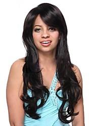 Fashion  Hair  Inclined   Bang  Temperament   Curly   Hair  wig