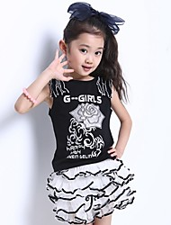 Girl's Clothing Set Cotton Blend Summer