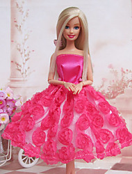 Barbie Doll Sweet Rose Princess Dress