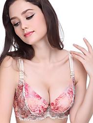 Lace Feminino Push-up AC Cup V profundo Sexy Bra Remodelar Underwear