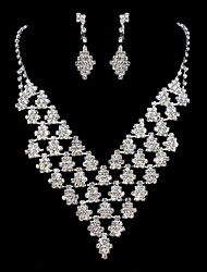 ME Vintage Luxury Austria Rhinestone Set Wedding Necklace And Earings Set T0004