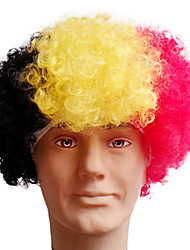 Black Afro Wig Fans Bulkness Cosplay Christmas Halloween Wig German flag Wig 1pc/lot