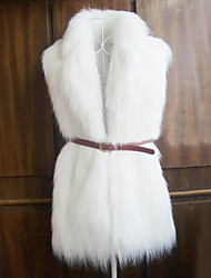 Fur Vest With Sleeveless Shawl In Faux Fur Party/Casual Vest(More Colors)