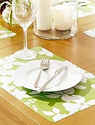 4 Pieces Plastique Sets de table