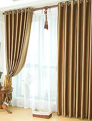 (Dos paneles) clásico en relieve apagón cortina marrón