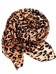 Dongzhiyu elegante estampado de leopardo de terciopelo de la gasa de la bufanda
