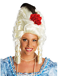 Fancy Ball Synthetic Party Wig Red Rose Mary Curly Short Women Wig(Silver)