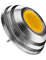 G4 2W 1pcs COB 160lm LM Тёплый белый Декоративная Круглые LED лампы DC 12 V